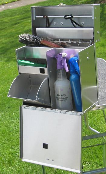 Aluminum Dog Grooming Tack Box