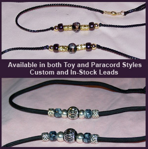 Beaded Dog Show Leads- Beaded Leads for Show Dogs