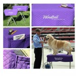 Quilted Ring Side Dog Grooming Table Cover with Pockets