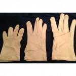 Gloves for dog obedience competition specially sized for small dogs