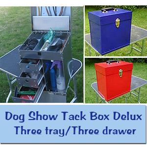 Dog Grooming Tack Boxes